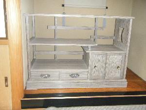 焼桐飾り棚