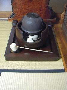 茶釜台 シタン材