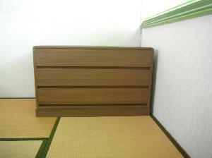 焼桐3段チェスト